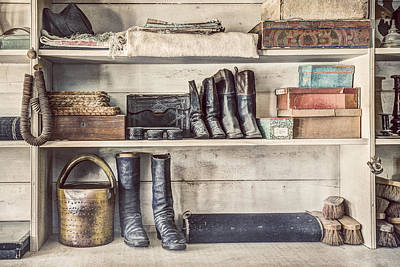 Boots And Things - Old General Store Print by Gary Heller