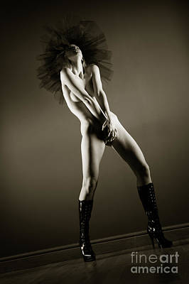 Provocative Photograph - Boots And Tutu by John Tisbury