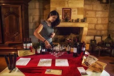 Bordeaux Wine Tasting Tour Print by Georgia Fowler