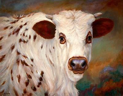 Steer Painting - Borden by Janet Ferraro