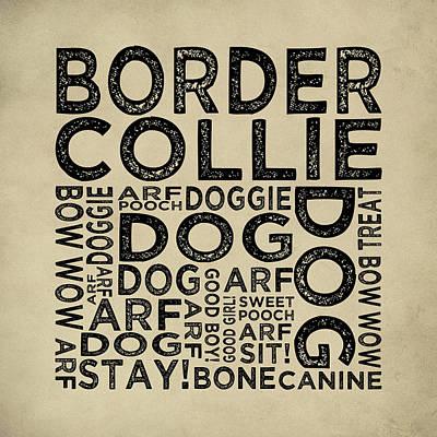 Border Collie Typography Print by Flo Karp