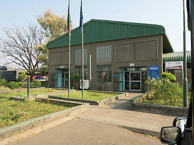 Border Crossing Building In Zambia Print by Panoramic Images