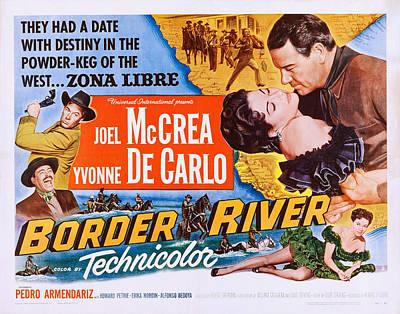 Border River, Us Poster, Far Right Print by Everett
