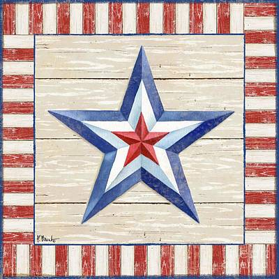 Bordered Patriotic Barn Star IIi Print by Paul Brent