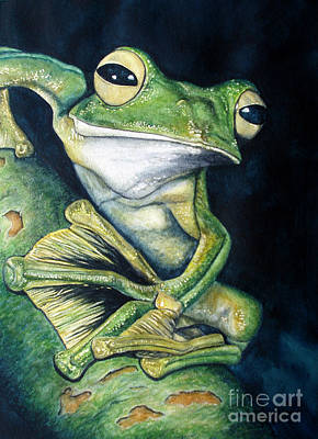 Flyers Painting - Boreal Flyer Tree Frog by Joey Nash