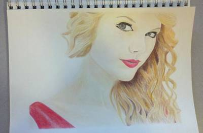 Taylor Swift Drawing - Bored by Richie Wentworth