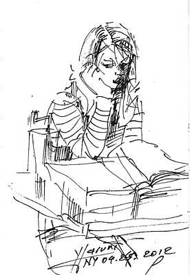Sketch Drawing - Bored by Ylli Haruni