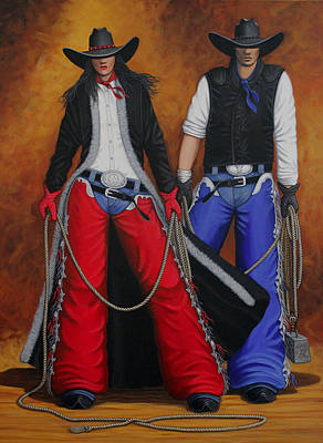 Cowboy Painting - Born In The Usa by Lance Headlee