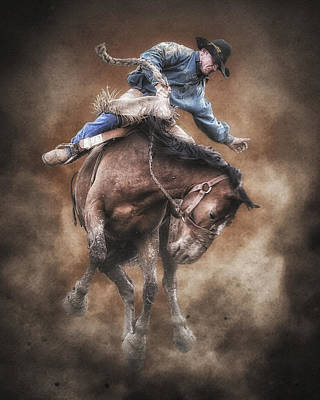 Born To Buck Live To Ride Print by Ron  McGinnis