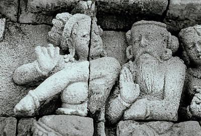 Dancer Relief Photograph - Borobudur Apsara Dancer by Shaun Higson