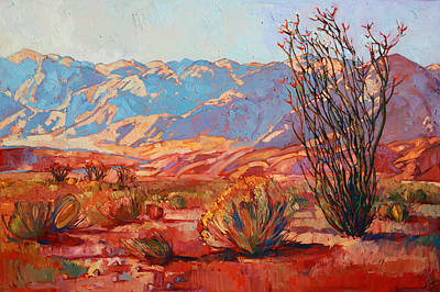 Joshua Tree Painting - Ocotillo Gold by Erin Hanson