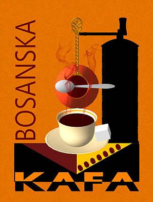 Bosnae Digital Art - Bosanska Kafa  by Toro Tan