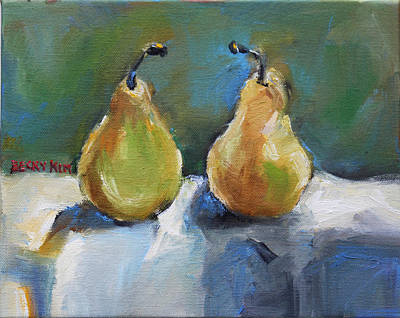 Loose Stylist Painting - Bosc Pears by Becky Kim