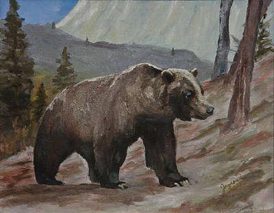 Boss Bear Original by Jim Leach