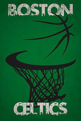 Boston Celtics Hoop Print by Joe Hamilton