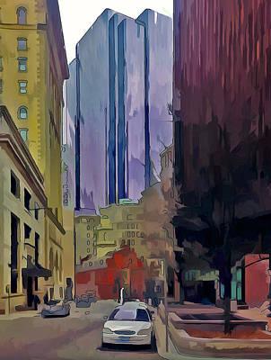 Boston City Centre 2 Print by Yury Malkov