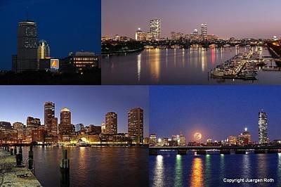Boston City Skyline Print by Juergen Roth