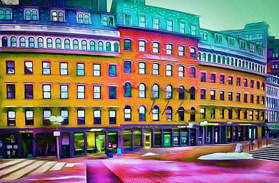 Busy Digital Art - Boston Colors 1 by Yury Malkov