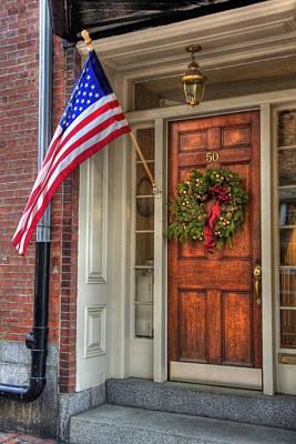 New England Photograph - Boston Doorways 1  by Joann Vitali