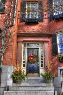 Us Flag Photograph - Boston Doorways 2 by Joann Vitali