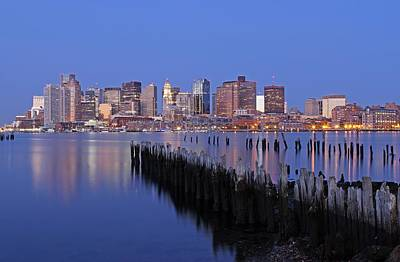 Custom House Tower Print featuring the photograph Boston Downtown And Financial District by Juergen Roth