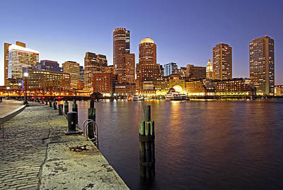 Boston Fan Pier And Financial District Print by Juergen Roth