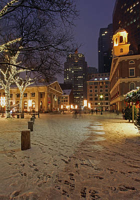 Boston Faneuil Hall And Quincy Market Print by Juergen Roth
