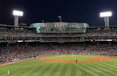 Boston Red Sox Photograph - Boston Fenway Park Baseball by Juergen Roth