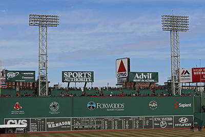 Sports Photograph - Boston Fenway Park Green Monster by Juergen Roth