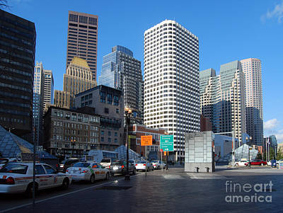 Boston Financial District Print by Rosemarie Morelli
