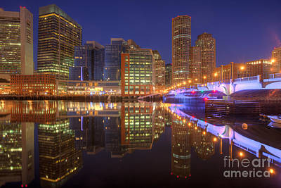 Boston Photograph - Boston Fort Point Channel Morning Twilight I by Clarence Holmes