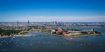 Boston From 500 Feet Print by Paul Treseler