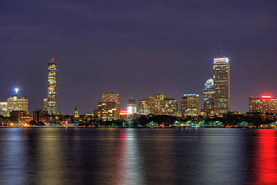 Boston From Memorial Drive Print by Joann Vitali