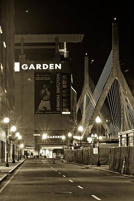 Basketball.boston Celtics Photograph - Boston Garder And Side Street by John McGraw