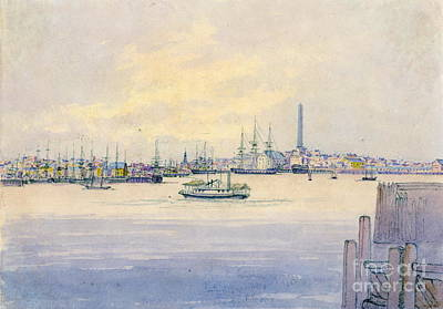 Cambria Photograph - Boston Harbor 1846 by Padre Art