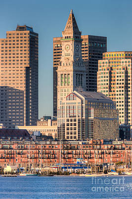 Boston Photograph - Boston Harbor And Skyline IIi by Clarence Holmes