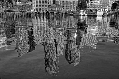 Boston Harbor Reflections Print by Joann Vitali