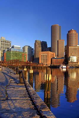 Boston Harbor Sunrise 2 Print by Joann Vitali