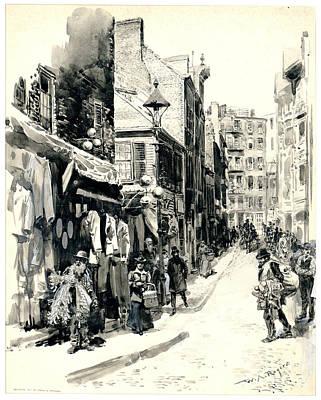 Boston Jewish Quarter 1899 Print by Padre Art