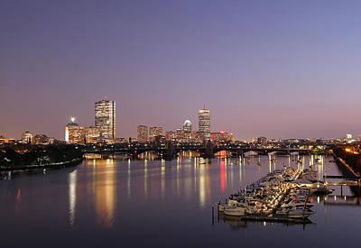 Boston Landmarks At Twilight Print by Juergen Roth