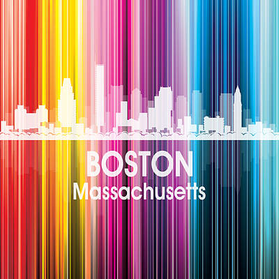 Icon Mixed Media - Boston Ma 2 Squared by Angelina Vick