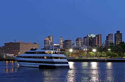 Boston Odyssey Cruise Ship Print by Juergen Roth