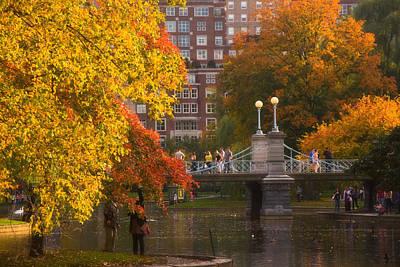 Boston Public Garden Lagoon Bridge Print by Joann Vitali
