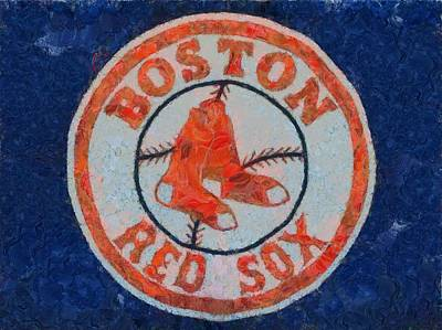 Major League Baseball Painting - Boston Red Sox by Dan Sproul