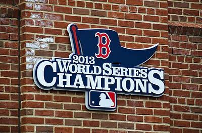 Baseball Photograph - Boston Red Sox World Champions by Donna Doherty