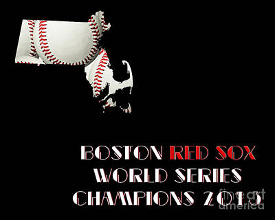 Baseball Photograph - Boston Red Sox World Series Champions 2013 by Andee Design