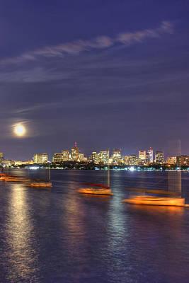 Prudential Center Photograph - Boston Skyline From Memorial Drive by Joann Vitali