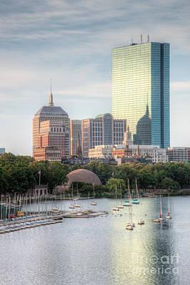 Boston Skyline II Print by Clarence Holmes