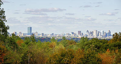 Sox Photograph - Boston Skyline In Autumn by Donna Doherty