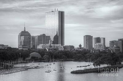 Boston Skyline Iv Print by Clarence Holmes